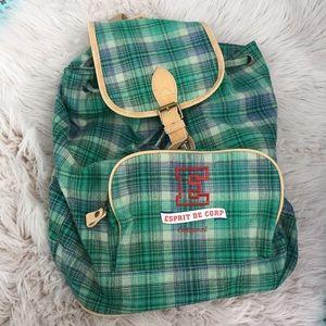 💚 Vintage Esprit backpack purse duffel bag